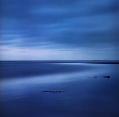The gentle turns of the world (Zeb Andrews) Tags: hasselblad500c fuji160c oregon pacificnorthwest oregoncoast 6x6 mediumformat blue dusk twilight colorfilm fuji pacificocean seaside beach longexposure
