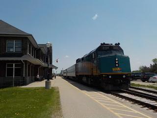 Train #85 at Stratford