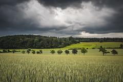 Heavy clouds (Stockografie) Tags: germany landscape x100f reussenstein schwaebische alb clouds cloudscape