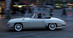 Mercedes-Benz 190 SL (Kim Drotz) Tags: 1961 mercedesbenz 190 sl car classic german city night street helsinki helsingfors