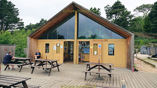Outdoor Centre and Trading post, Brownsea Island, in June 2018, Poole Harbour, Poole, Dorset. England.
