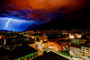 Severe thunderstorm (Danijel Jovanovic Photography) Tags: innsbruck tyrol tirol thunderstorm storm blitz gewitter unwetter rain lightning sony city supercell weather