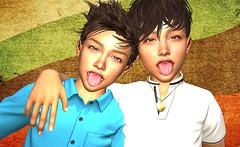 best friends (mikebastlir) Tags: best friends boys boy youth young childhood virtual world secondlife children school friendship love fun together closeness tenderness