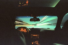 on my way to you (film) (Art by 2wenty) Tags: 2wenty leica cl elmarit 24 asph film analog analogue road driving selfie mood e46 grain grainy