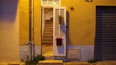 HOME (VinZo0) Tags: home maison door porte volet lettre rue street escalier stairs lumiere light night nuit 12 city marseille estaque