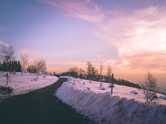 Let's see the sun rise from the plain. blog   instagram   web (Maurin_S) Tags: sunset mounatain monte tomba italy italian snow snowy pentax cold winter tumblr radar original photography photographers