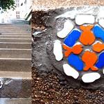 Mosaic installation on pavement [Lyon, France] thumbnail