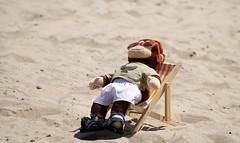 Bank Holiday Mond̶a̶y̶key (SteveJM2009) Tags: beach sand seaside deckchair sunning sunbathing monkey chimp sunglasses bankholiday monday bournemouth dorset uk basking may 2018 stevemaskell