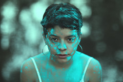 Camila (CheloXs) Tags: face lake lago humo buenos aires smoke azul blue argentina palermo portrait people photoadd