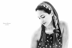 Elena#6|Novara|Italy (Giovanni Riccioni) Tags: 2018 5d canon canon430exii canon580exii canonef75300mmf456iiiusm canoneos5d donna eos elena flash fullframe giovanniriccioniphotography italia italy novara piedmont piemonte pixelking portrait ritratto speedlight strobe trigger woman blackandwhite biancoenero highkey white bianco nero black foulard fashion