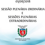 Sessão Plenária Ordinária e Sessões Plenárias Extraordinárias 05/06/2018