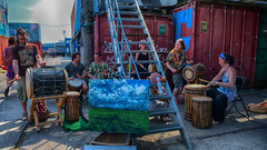 NDSM , Amsterdam (ahwou) Tags: music streetperformers drums percussion ndsm artists graffiti painting schilderij artiesten ndsmamsterdam hetij