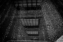 Raindrop reflections (jmiller35) Tags: sportscar triumph car canon albertdock reflections raindrops bw blancoynegro blackandwhite merseyside liverpool