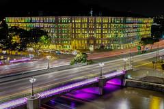Colored Windows (jacysf) Tags: multicolors coloredwindows mica building governmentbuilding nightphotography throughherlens longexposure exploration busyroad clarkequay singapore windows road junction