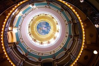 Iowa State Capitol ~ Dome Interior ~ Des Moines IA