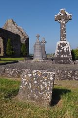 Elwood grave site - (right celtic cross) (Astaken) Tags: olympus omd em5 43 lens zuiko digital zd ed swd 1260mm ireland may 2018