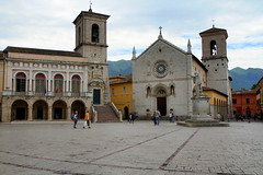 Memory of Norcia (annalisabianchetti) Tags: urban travel architecture architettura church basilica norcia umbria piazza memory historic italy cityscapes city