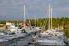 Port in sunset (G E Nilsen) Tags: port sunset boat sky water tree bay house building pier sailboat norway brønnøy marina