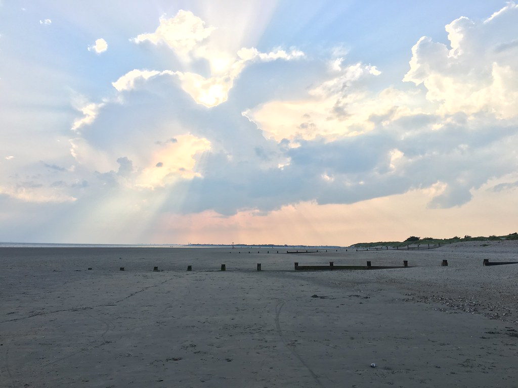 Sun rays over West Wittering beach