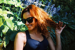 (R u b y V i c t o r i a) Tags: portrait nature garden girl redhead ginger summer leaves happy tan sunshine flowers model outdoors sony a7 28mm f2
