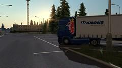 ets2_20180601_152219_00 (Kocaa_009) Tags: sky scania scaniatrucks scaniav8 scaniar scaniar730 sun sunshine krone kronetrailers border parking sunset