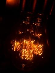 Waiting for Coffee (TejaO) Tags: lightbulb lights lightplay edisonlamp orange filament kaleidoscope