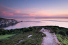 Headon Warren Glow (Speedy349) Tags: isleofwight headonwarren alumbay needles totland sunset pink glow
