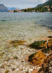 Malcesine, Lake Garda(1) (S.R.Murphy) Tags: italy june2018 lakegarda malcesine water lake beach travelphotography travel fujifilmxt2 fujifilmxf1855mm hoyapolariser rock wave tuscany