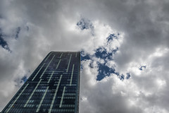 20180604.17.40-450 (HisPhotographs.com) Tags: ltower lookingup toronto downtown city building glass windows clouds blue sky stlawrenceneighborhood ontario canada