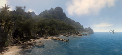 why should I hold my breath..? (Rakkhive) Tags: screenshot screenarchery videogamephotography gamephotography crysis nature suit nomad prohet psycho sea beach ocean mountains palms turtle cryengine reshade