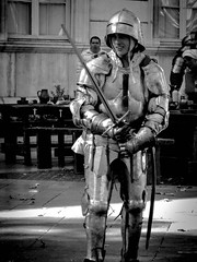 Knight in Shining Armour, Avignon (bobbex) Tags: france southoffrance lesud blackandwhite blackwhite bw knight armour medieval