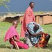 Maasai men make fire