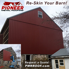 Re-Skin Your Barn Before another Year Passes! (pioneerpolebuildings) Tags: reskin your barn before another year passes request free quote today httpwwwpioneermetalroofingcompagesrequesthtml red pmr pioneermetalroofing siding