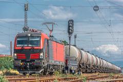 Final destination: Druzhba (BackOnTrack Studios) Tags: dmv cargo rail freight tanks train petrol fuel bulgarian railways siemens vectron electric locomotive railway station modern long druzhba bugas bulgaria