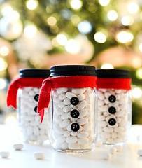 Snowman Mason Jar St (DIY and HandMade) Tags: handmade diy