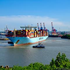 E I N P A R K E N (spityHH) Tags: container containerschiff elbchaussee elbhang fairplay fuji maerskline schlepper trippleeclass tug x100t waltershof maersk mogensmaersk hamburg hafen