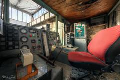 Red chair (Michal Seidl) Tags: abandoned mine opuštěný důl infiltration industry vinding tower engine maschine těžní srtroj věž hdr czech bohemia canon decay