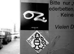 stickers in Hamburg (wojofoto) Tags: stickers stickerart sticker wojo oz hamburg wojofoto wolfgangjosten