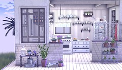 @Sese (Sweet Fashion Girl and Boy) Tags: sese arcade garden kitchen full set vase plant