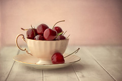 (donna leitch) Tags: cherries fruit china cup saucer teacup donnaleitch canon5dmarkiii