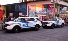 NYPD Strategic Response Group Ford Police Interceptors SUVs (MJ_100) Tags: police cops timessquare nypd policecar ford policeinterceptor suv srg strategicresponsegroup copcar newyork newyorkcity policedepartment nyc manhattan