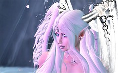 My magical world (kay_1806) Tags: magical dream fantasy fairy angel horns wings secondlife sensual soft white pastel snow trees ice
