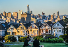 unknown couple picnicking (pbo31) Tags: bayarea california nikon d810 color june 2018 boury pbo31 sanfrancisco architecture skyline city alamosquare picnic park salesforce over view