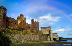 Fortress (Peeblespair) Tags: conwy conwycastle wales northwales medieval ruins fortress castle rainbow peeblespair raelawsonstudios