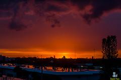 Sunset (Davidpaez27) Tags: sunset miami florida northmiamibeach landscape paisaje red orange atardecer sky