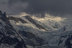 Vanishing act (Stefsan (on and off)) Tags: montblanc glacier seracs mountain peak alps alpinelandscape massifmontblanc chamonix france clouds sun weather nature light shadow canon eos 7d stefsan © stefan sandmeier
