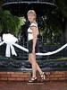 #TDIH - June 14, 2003 (WindJammer Photo) Tags: june 2003 olympus 3020 tdih outdoor portrait skirt downtown fountain park highheel beauty beautiful gorgeous blonde wife smile legs