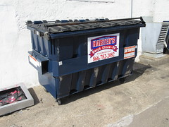 Harters Dumpster (TheTransitCamera) Tags: lacrosse wisconsin wi harters hartersquickcleanup dumpster refuse trash recycle bin can waste garbage removal hauling