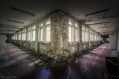 Tete a Tete (Dennis van Dijk) Tags: urkaine chernobyl pripyat exclusion zone nuclear disaster meltdown accident evacuation ussr cccp school hallway eu ue urbex urban exploration moody beauty lost found dust peeling paint