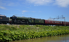 60103 (lcfcian1) Tags: railway rails track trains ansty warwickshire oxford canal water waterway river sun sunshine outdoor railroad tracks oxfordcanal anstycanal lner class a3 4472 flying scotsman lnerclassa34472flyingscotsman flyingscotsman 60103 passingtheoxfordcanal